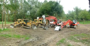 Industrial excavators Stock Photo