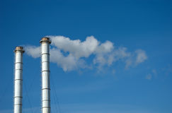 Industrial Exhaust Pipes Royalty Free Stock Images
