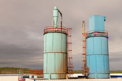 Industrial Exhaust Silos Royalty Free Stock Image