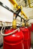 Industrial extinguishing system. Stock Photo