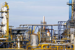 Industrial facilities. In a chemical plant stock photo