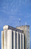 Industrial facility. A concrete silo Stock Photo