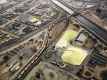 Industrial facilty aerial. Stock Photo