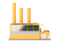 Industrial factory building Royalty Free Stock Photo