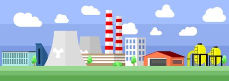 Industrial factory building Stock Images