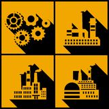 Industrial factory buildings background Royalty Free Stock Images