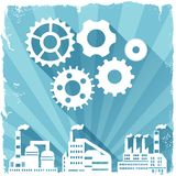 Industrial factory buildings background Stock Photography