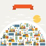 Industrial factory buildings background Royalty Free Stock Image