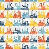 Industrial factory buildings seamless pattern Stock Photo