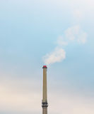 Industrial factory chimney smoke on blue sky pollution. Industrial factory chimney smoke on blue sky fog pollution Royalty Free Stock Photo