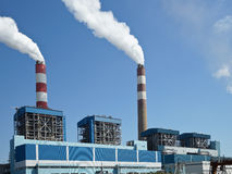 Industrial factory with chimneys Stock Image