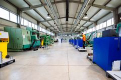Industrial factory with cnc machines Stock Photo