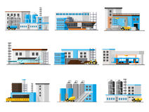Industrial Factory Collection Royalty Free Stock Images
