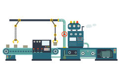 Industrial factory construction equipment.  Royalty Free Stock Photography