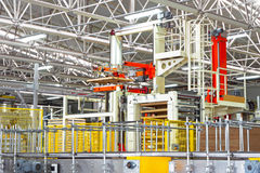 Industrial factory. The conveyor automated production at factory stock photography