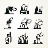 Industrial Factory Icons Royalty Free Stock Photo