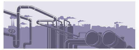 Industrial factory landscape  illustration Stock Photography