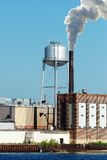Industrial factory water tower Stock Photo