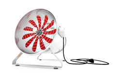 Industrial Fan. On white background with red propellers Royalty Free Stock Image