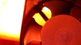 Industrial Fan. Close up of an electric Industrial Fan stock video footage