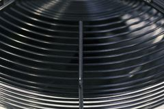 Industrial fan on cooling unit Royalty Free Stock Photos