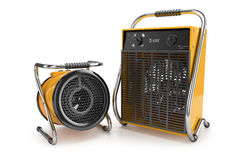 Industrial fan heaters 3d Royalty Free Stock Photos
