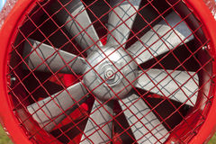 Industrial fan. With a protected net Stock Photos