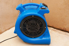 Industrial fan to remove water damage Royalty Free Stock Photo