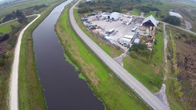 Industrial Farm aerial video Stock Photography