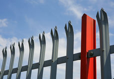 Industrial Fencing Royalty Free Stock Photos