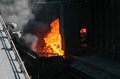 Industrial fire Royalty Free Stock Photos