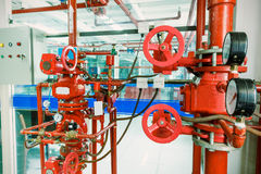 Industrial fire control system Stock Images