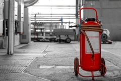 Industrial fire extinguisher Royalty Free Stock Photo