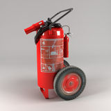 Industrial fire extinguisher on light background. 3D render of an industrial fire extinguisher on light background Royalty Free Stock Images