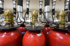 Industrial fire extinguishing system. Stock Image