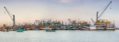 Industrial fishing in Thailand Royalty Free Stock Image