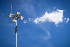 Industrial floodlight Stock Photo