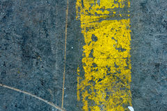 Industrial Floor background with yellow stripe Stock Image