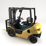 Industrial forklift on light background Stock Image