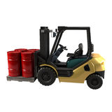 Industrial forklift on white background Royalty Free Stock Image