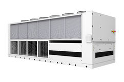 Industrial free-cooling chiller Royalty Free Stock Photo