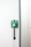 Industrial freezer door Stock Photo