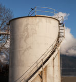 Industrial fuel oil storage tank Royalty Free Stock Images