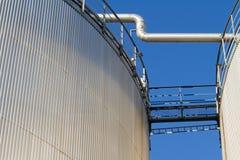 Industrial fuel storage. Stock Photos
