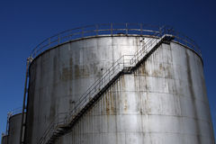 Industrial fuel tank Royalty Free Stock Images
