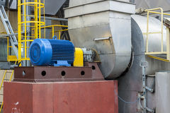 Industrial fumes ventilator - Poland. Royalty Free Stock Photo