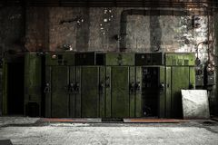 Industrial fuse boxes Royalty Free Stock Image