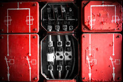 Industrial Fuse Cabinet close up Stock Image