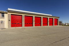 Industrial garage door warehouse Royalty Free Stock Images