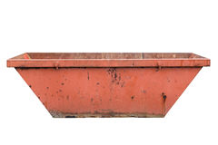 Industrial garbage container isolated on white background Royalty Free Stock Photos